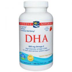 Nordic Naturals, DHA, Strawberry, 500 mg, 180 Soft Gels Zdrowie - opracowania ogólne