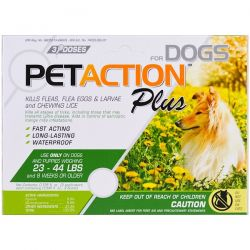 Pet Action Plus, For Medium Dogs, 3 Doses- 0.045 fl oz Pozostałe