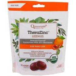 Quantum Health, TheraZinc, Lozenges, Blood Orange Flavor, 18 Lozenges Country