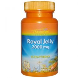 Thompson, Royal Jelly, 2000 mg, 60 Capsules Country