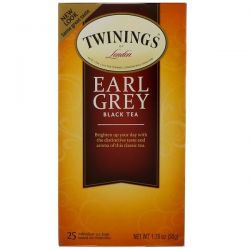 Twinings, Earl Grey Black Tea, 25 Tea Bags, 1.76 oz (50 g) Historyczne