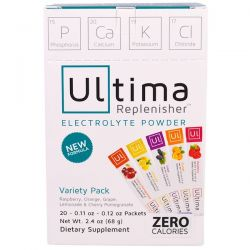 Ultima Health Products, Ultima Replenisher, Balanced Electrolyte Powder, Variety Pack, 20 Packets, 2.4 oz (68 g)