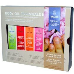 Weleda, Body Oils, Essential Kit, 6 Oils, (0.34 fl oz Each)
