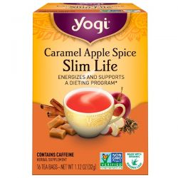 Yogi Tea, Slim Life, Caramel Apple Spice, 16 Tea Bags, 1.12 oz (32 g)