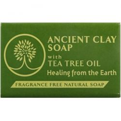 Zion Health, Ancient Clay Natural Soap with Tea Tree Oil, Fragrance Free, 6 oz (170 g) Pozostałe