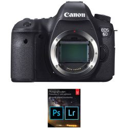Canon EOS 6D DSLR Camera with Adobe Creative Cloud Photography Country