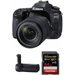 Canon EOS 80D DSLR Camera with 18-135mm Lens and Free Battery Historyczne