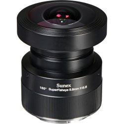 Sunex 5.6mm f/5.6 SuperFisheye Fixed Focus Lens DSLR01C B&H Fotografia
