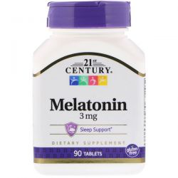 21st Century, Melatonin, 3 mg, 90 Tablets Biografie, wspomnienia