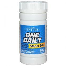 21st Century, One Daily, Men's 50+, Multivitamin Multimineral, 100 Tablets Biografie, wspomnienia