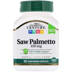21st Century, Saw Palmetto, 450 mg, 60 Vegetarian Capsules Biografie, wspomnienia