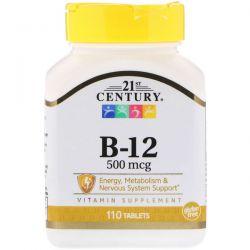 21st Century, B-12, 500 mcg, 110 Tablets Biografie, wspomnienia