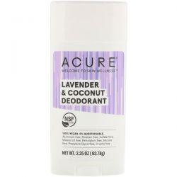 Acure, Deodorant, Lavender & Coconut, 2.25 oz (63.78 g) Pozostałe
