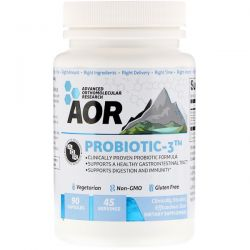 Advanced Orthomolecular Research AOR, Probiotic-3, 90 Capsules Biografie, wspomnienia