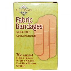 All Terrain, Fabric Bandages, Latex Free, Assorted, 30 Count Pozostałe