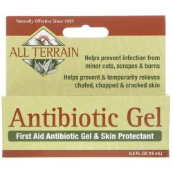 All Terrain, Antibiotic Gel, First Aid Antibiotic Gel & Skin Protectant, 0.5 fl oz (15 ml)