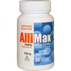 Allimax, 100% Allicin Powder Capsules, 180 mg, 30 Veggie Caps