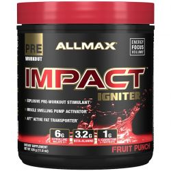 ALLMAX Nutrition, IMPACT Igniter, Pre-Workout, Citrulline Malate + Beta-Alanine + NAC, Fruit Punch, 11.6 oz (328 g)