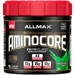 ALLMAX Nutrition, AMINOCORE, BCAA, 8G BCAAs, 100% Pure 45:30:25 Ratio, Gluten Free, Green Apple Candy, 1.02 lb (462 g) Pozostałe