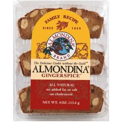 Almondina, Gingerspice, Almond and Ginger Biscuits, 4 oz (113 g) Biografie, wspomnienia