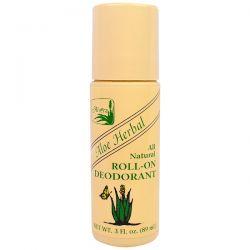Alvera, Roll-On Deodorant, Aloe Herbal, 3 fl oz (89 ml) Pozostałe
