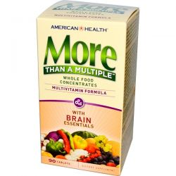 American Health, More Than A Multiple with Brain Essentials, 90 Tablets Biografie, wspomnienia