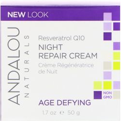 Andalou Naturals, Night Repair Cream, Resveratrol Q10, Age-Defying, 1.7 oz (50 g) Biografie, wspomnienia
