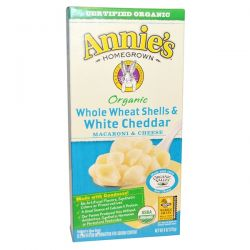 Annie's Homegrown, Macaroni & Cheese, Whole Wheat Shells and White Cheddar, Organic, 6 oz (170 g) Biografie, wspomnienia