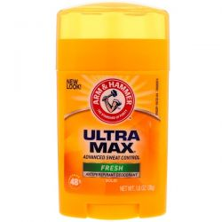 Arm & Hammer, UltraMax, Antiperspirant Solid Deodorant, For Men, Fresh, 1.0 oz (28 g) Pozostałe