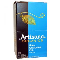 Artisana, Organics, Raw Coconut Oil, Virgin, 10 Packets, 1.06 fl oz (30.05 ml) Each Pozostałe