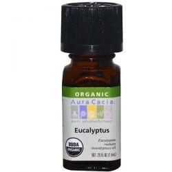 Aura Cacia, Organic, Eucalyptus, 0.25 fl oz (7.4 ml) Biografie, wspomnienia