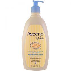 Aveeno, Baby, Daily Moisture Lotion, Fragrance Free, 18 fl oz (532 ml) Biografie, wspomnienia