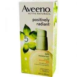 Aveeno, Active Naturals, Positively Radiant, Daily Moisturizer, with Sunscreen, SPF 15, 4.0 fl oz (120 ml) Biografie, wspomnienia