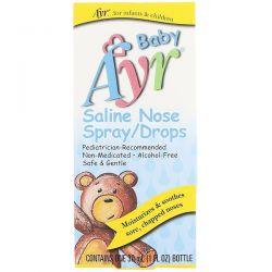 AYR, Baby Saline Nose Spray/Drops, 1 fl oz (30 ml) Pozostałe