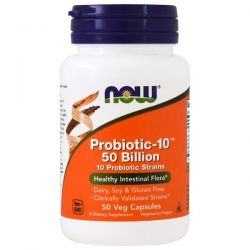 Now Foods, Probiotic-10, 50 Billion, 50 Veg Capsules Biografie, wspomnienia