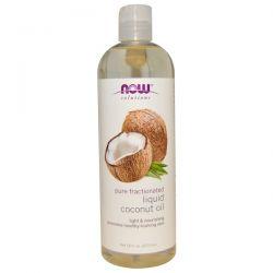 Now Foods, Solutions, Liquid Coconut Oil, Pure Fractionated, 16 fl oz (473 ml) Biografie, wspomnienia