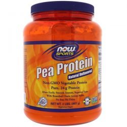 Now Foods, Sports, Pea Protein, Natural Unflavored, 2 lbs (907 g)