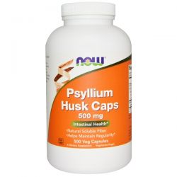 Now Foods, Psyllium Husk Caps, 500 mg, 500 Veg Capsules Pozostałe