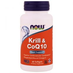 Now Foods, Krill & CoQ10, 60 Softgels Biografie, wspomnienia