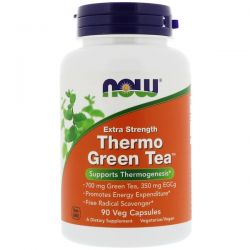 Now Foods, Thermo Green Tea, Extra Strength, 90 Veg Capsules