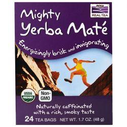 Now Foods, Organic Real Tea, Mighty Yerba Mate, 24 Tea Bags, 1.7 oz (48 g)