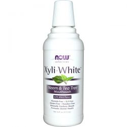 Now Foods, Solutions, XyliWhite Mouthwash, Neem & Tea Tree with Mint, 16 fl oz (473ml)