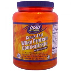 Now Foods, Grass-Fed Whey Protein Concentrate, Dutch Chocolate, 1.2 lbs (544 g) Pozostałe