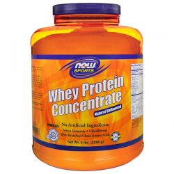 Now Foods, Sports, Whey Protein Concentrate, Natural Unflavored, 5 lbs (2268 g) Pozostałe