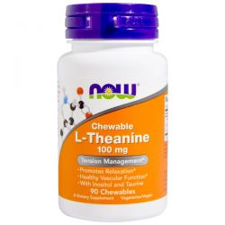 Now Foods, L-Theanine, 100 mg, 90 Chewables Biografie, wspomnienia