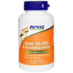 Now Foods, Aloe 10,000 & Soothing Herbs, 90 Veggie Caps Biografie, wspomnienia
