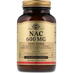 Solgar, NAC, 600 mg, 120 Vegetable Capsules Zdrowie i Uroda