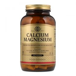 Solgar, Calcium Magnesium, 250 Tablets Zdrowie i Uroda