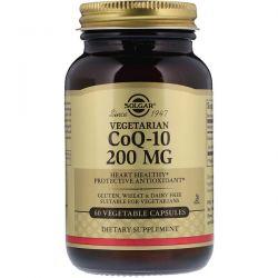 Solgar, Vegetarian CoQ-10, 200 mg, 60 Vegetable Capsules Zdrowie i Uroda