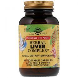 Solgar, Herbal Liver Complex, 50 Vegetable Capsules Zdrowie i Uroda